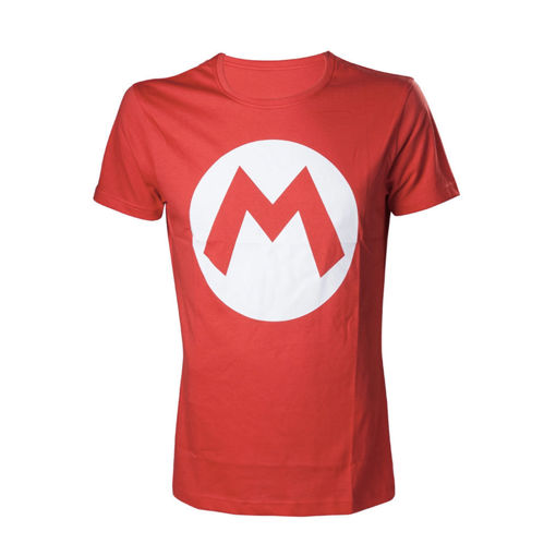 Red men shirt with the letter Nintendo - Mario - M