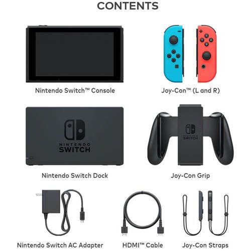 Зображення Nintendo Switch with Neon Blue and Neon Red Joy‑Con™