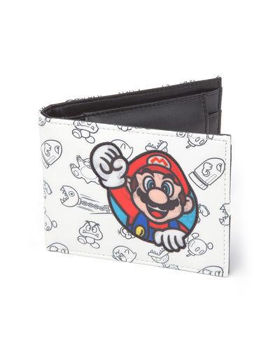 Изображение Super Mario - White Wallet Print & Pouch Mario