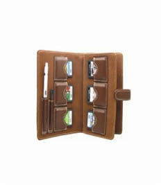 Brown Leather Games Case For Ds Lite