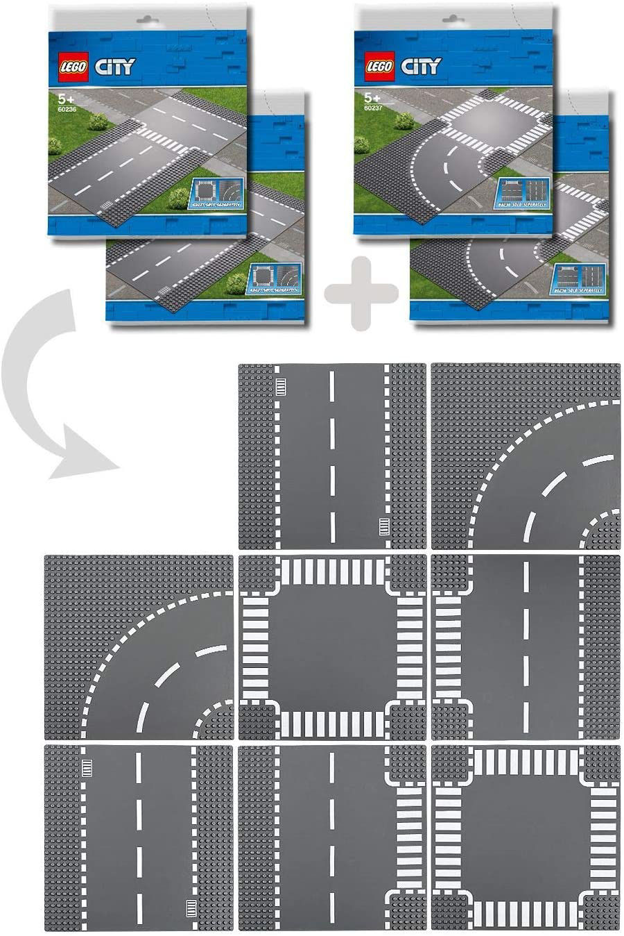 Изображение LEGO City Straight and T-junction 60236