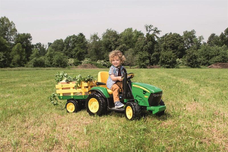 Picture of טרקטור עם כף ממונע לילדים -טרקטור ממונע 12V ג'ון דיר עם עגלה Peg perego