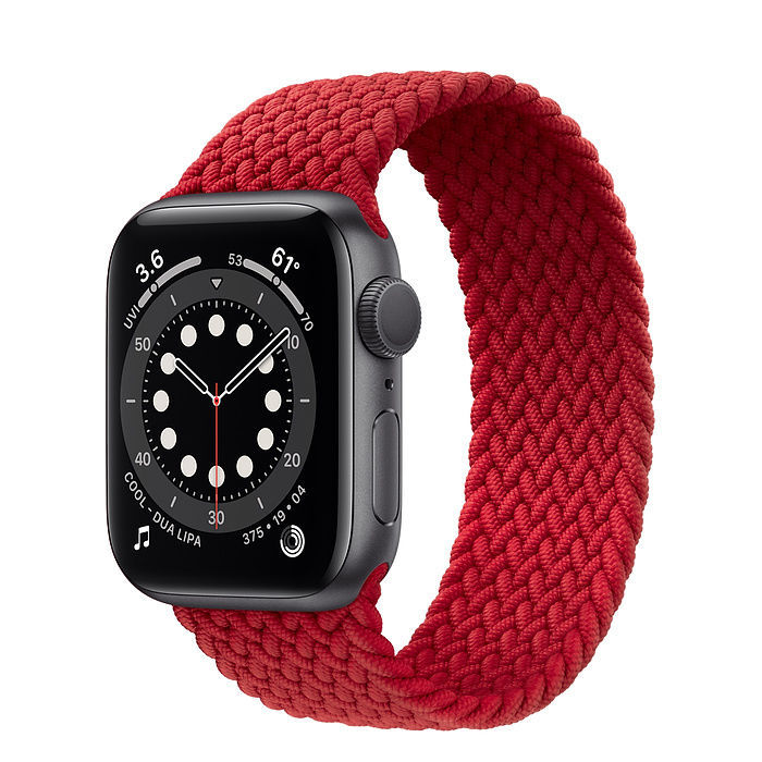 Image de New Apple Watch Space Gray Aluminum Case with Braided Solo Loop