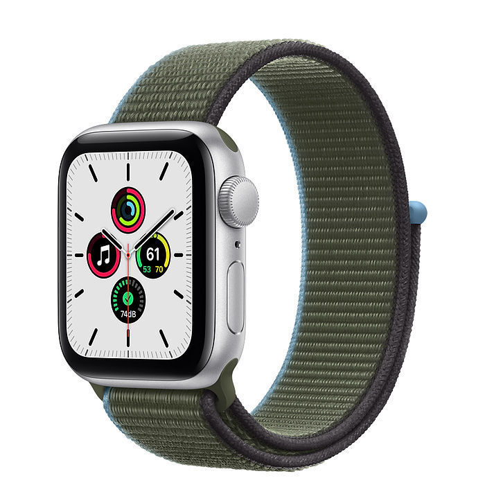 Apple Watch SE Silver Aluminum Case with Sport Loop