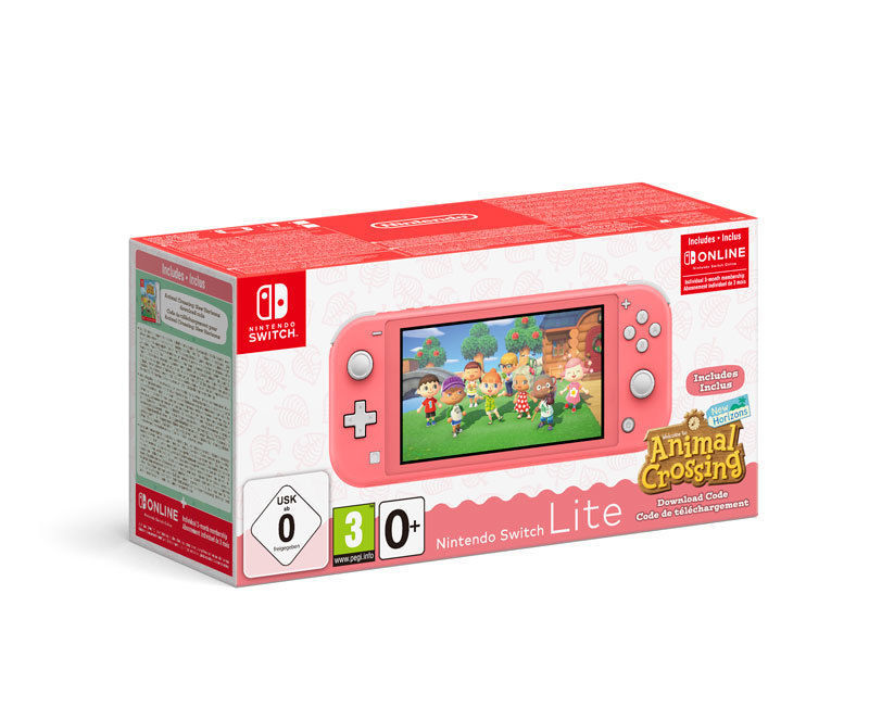 Nintendo Switch Lite Coral Animal Crossing